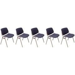 Giancarlo Piretti for Castelli, DSC 106 Chairs, 1970s, Set of Five