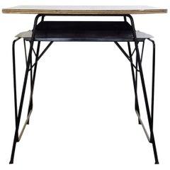 Willy Van Der Meeren Desk for Tubax, circa 1950, Formica, Metal, Wood, 38 Avai