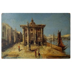 Early 1900s Venetian Cityscape Painting
