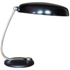 Vintage 1960s German Black and Chrome Desk Lamp
