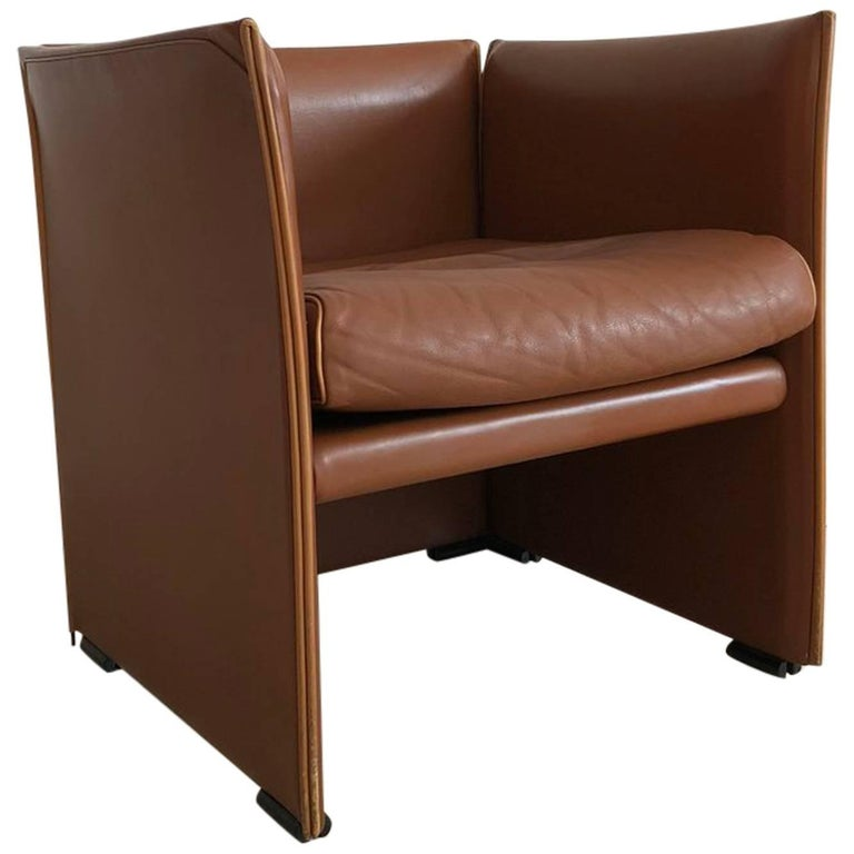 1976 401 Break Chair by Mario Bellini for Cassina, Brown Leather