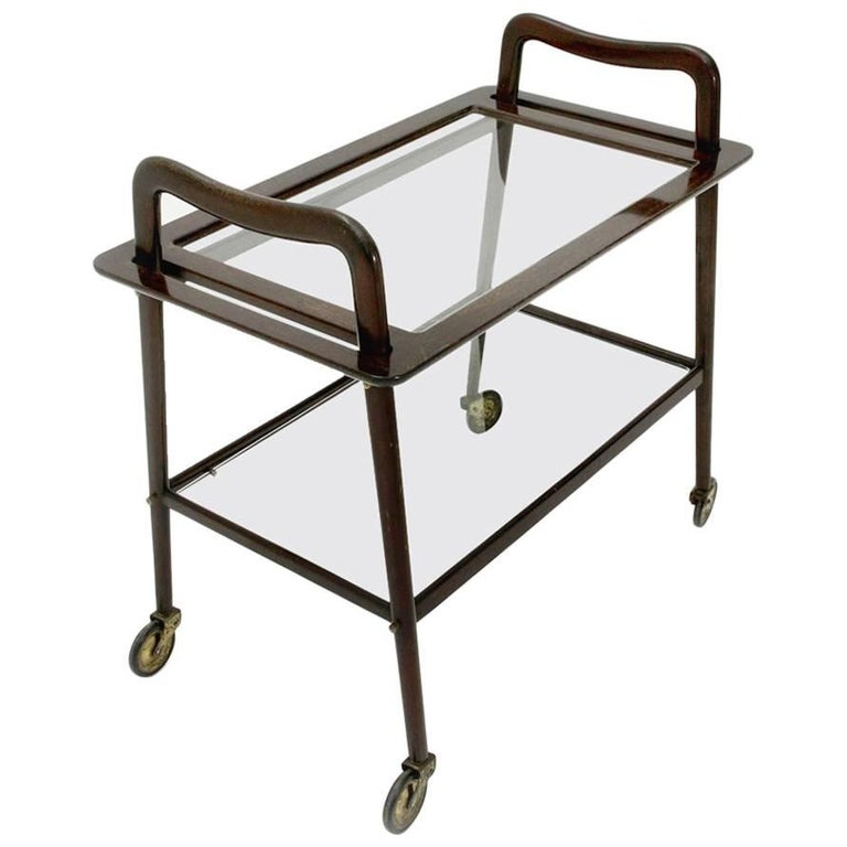 Trolley with Removable Tray by Ico Parisi for Angelo de Baggis, 1950s