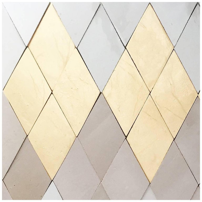 Diamond Handcrafted Glazed Bespoke Ceramic Tiles by Studio Sors