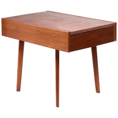 Nelson Leather Top End Table with Drawer for Herman Miller