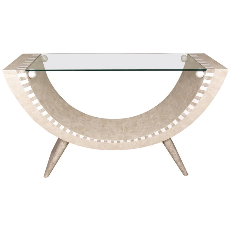 "Tessellated Stone ""Park Avenue"" Console Table"