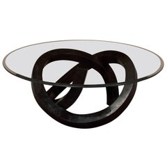 """""""Wild Ride"""" Tessellated Stone Cocktail Table, Black"""
