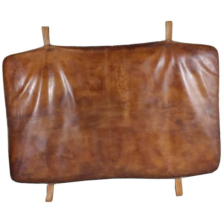 Vintage Czech Leather Gym Mat