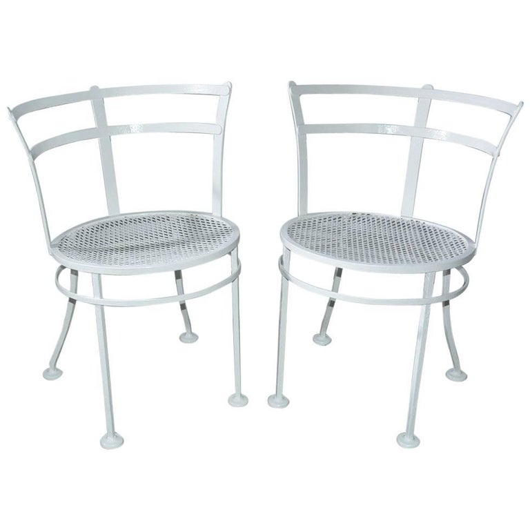 Pair of Midcentury Metal Patio or Garden Chairs For Sale