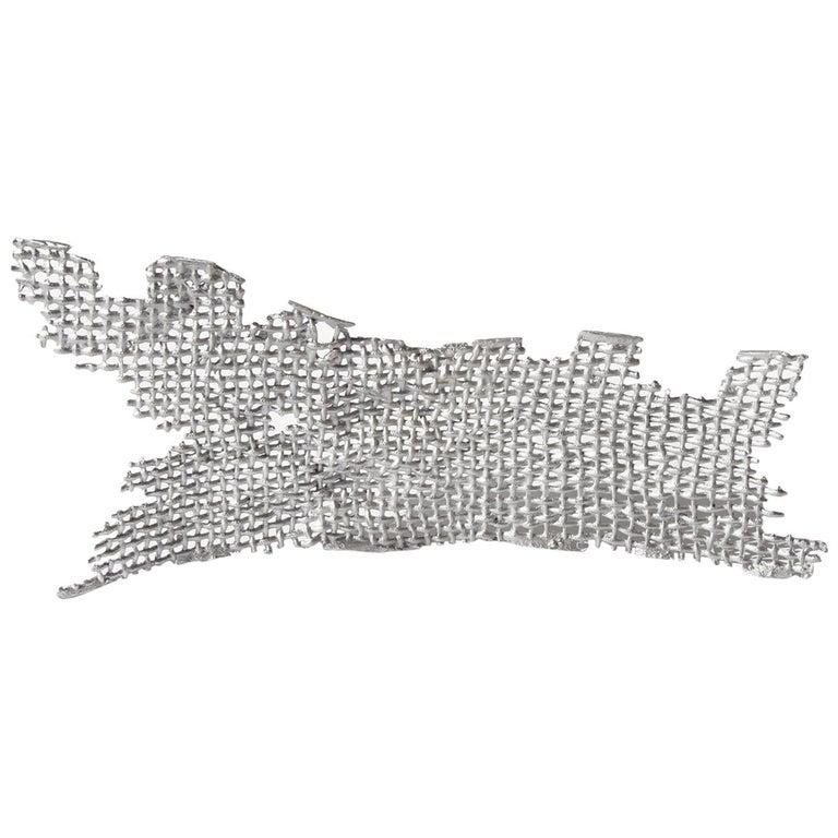 Contemporary Metal Cast Sculpture, Aluminium Curved Cast Form 1 by Mimi Jung