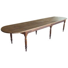 Rare Long French Farmhouse Table