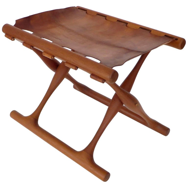 Poul Hundevad Danish Folding Stool PH 43 For Sale