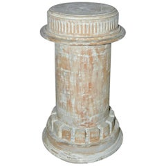 Antique Classical Style Column Wood Plinth