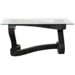 """""""Ribbon"""" Console Table in Black Tessellated Stone"""