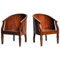British Colonial Round Back Chairs