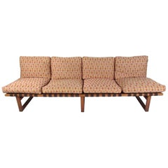 Early Børge Mogensen Four Seat Sofa or Bench in Oak, Model 211