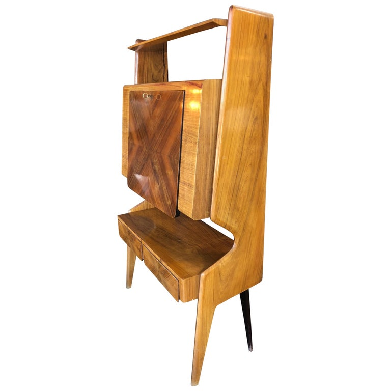 Italian Walnut Bar Cabinet by Vittorio Dassi, 1950s