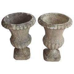 Pair of English Stone Urns