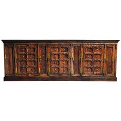 Impressive Indian Sideboard with Beautiful Colors and Carvings