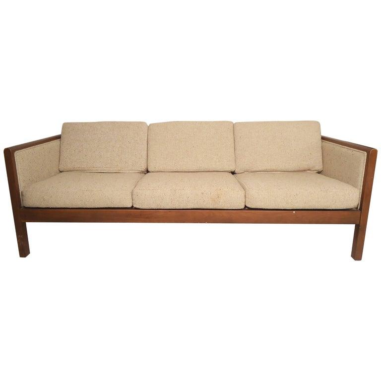 Mid-Century Modern Three-Seat Sofa