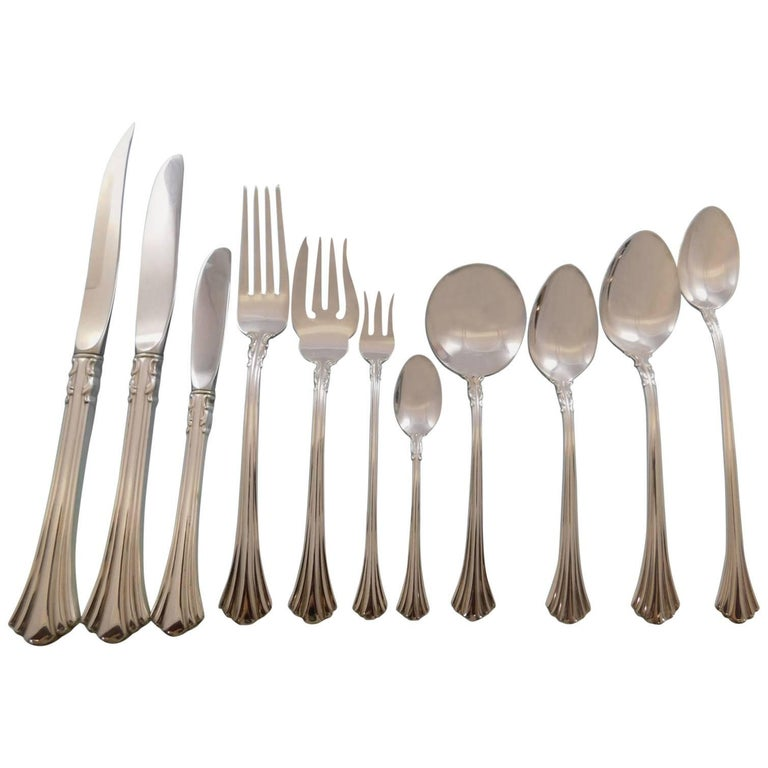 Eighth Century By Reed And Barton Sterling Silver Flatware Set Service 105pc For