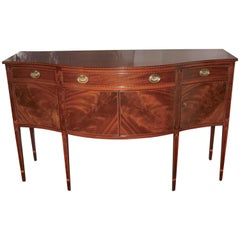 American Federal Revival Inlaid Mahogany Sideboard