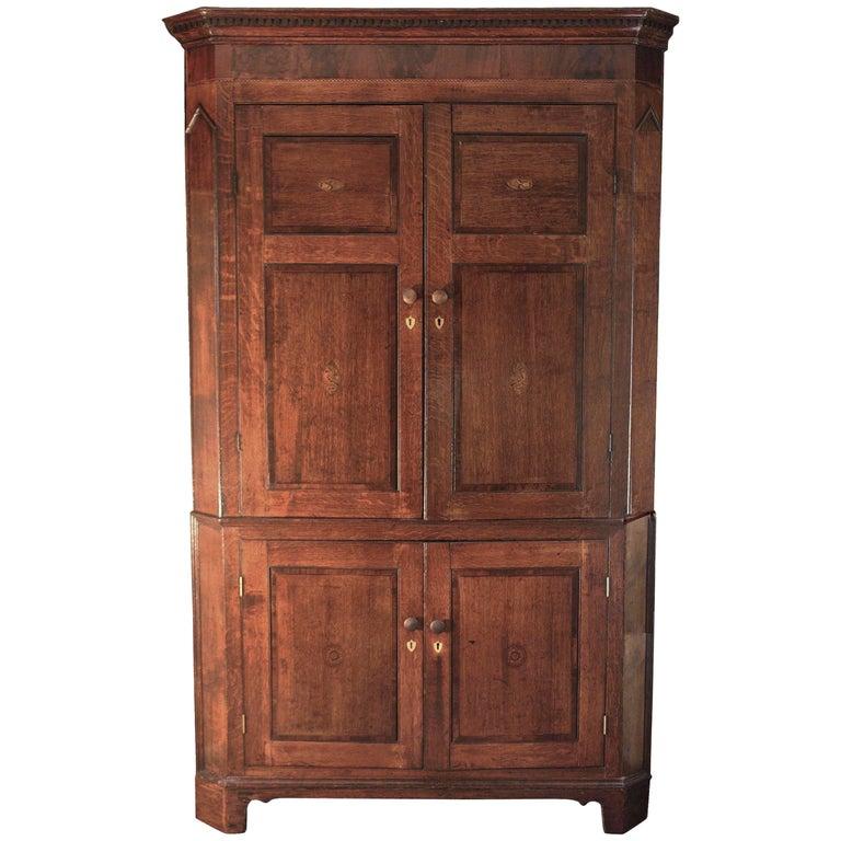 Scottish George III Period Corner Cupboard For Sale