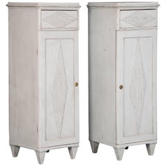 Pair of Painted Antique Swedish Gustavian Cabinets