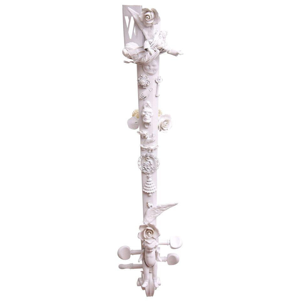 White Assemblage Sculpture