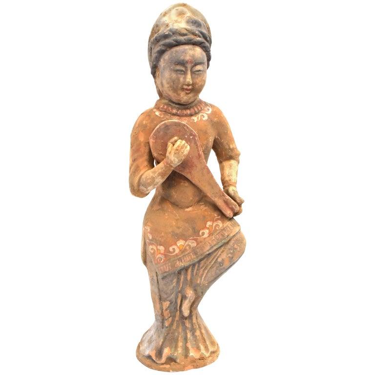 Pottery Figure Musician, Han Style Terracotta