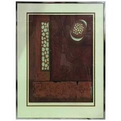 Hiroyuki Tajima Limited Edition Abstract Japanese Woodblock Print