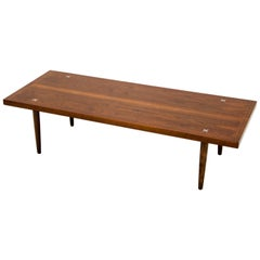 Walnut Mid Century Coffee or Cocktail Table by American of Martinsville