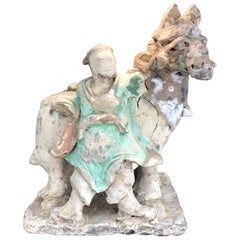 Ming Dynasty Standing Rider with Horse, Certified, TL Tested