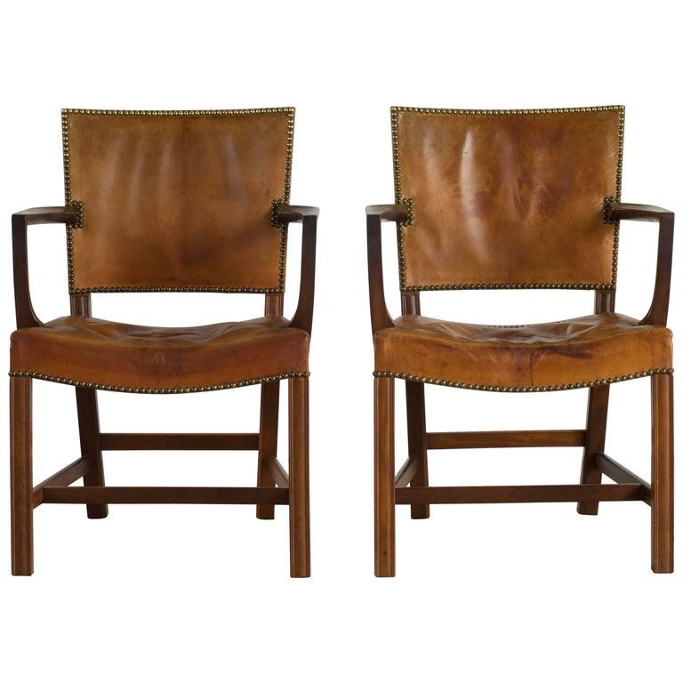 Pair of Kaare Klint Armchairs for Rud. Rasmussen