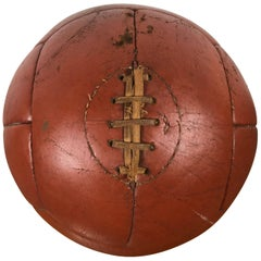 1930s Leather Medicine Ball, Nice Color and Patina