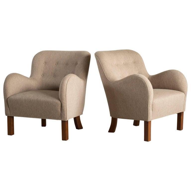 Pair of Palle Suenson Armchairs for Fritz Hansen
