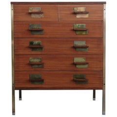 1959 Ico Parisi Rosewood Italian Chest of Drawers Serie Positano for MIM