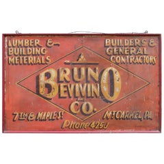 Vintage Construction Trade Sign