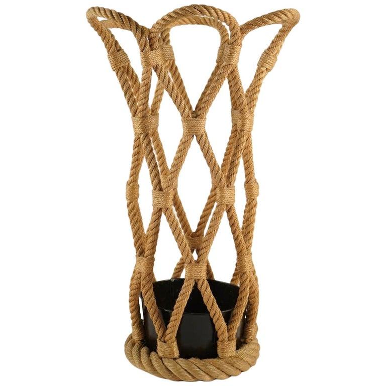 1950 Audoux & Minet Rope Umbrella Stand