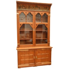 Gothic Revival Oak Bookcase