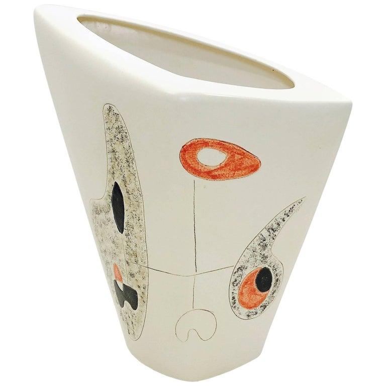 Denise and Peter Orlando, Large Decorative Vase, Cream White
