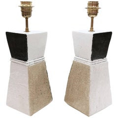 Salvatore Parisi, Pair of Ceramic Table Lamps