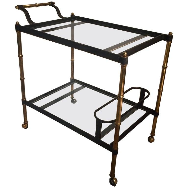 Jacques Adnet Bar Cart
