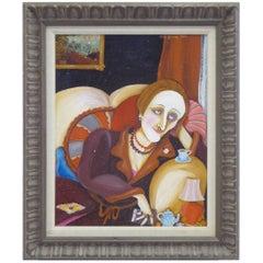 1976 Dame Edith Sitwell Portrait by Sita Gomez de Kanelba, Cuban American.