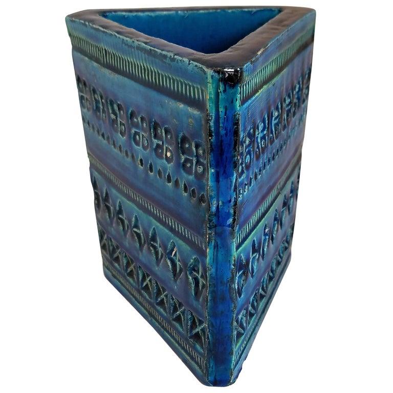 Bitossi Triangular Vase by Aldo Londi