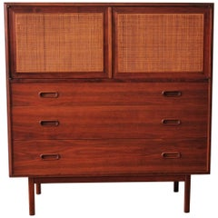 Mid-Century Modern Jack Cartwright for Founders Walnut Highboy