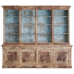 19th Century French Directoire Style Bibliothèque Bookcase in Original Paint