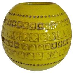 Vintage Italian Glazed Spherical Vase