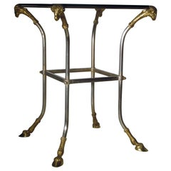 Neoclassical Steel and Gilt Bronze Table in the Style of Maison Jansen