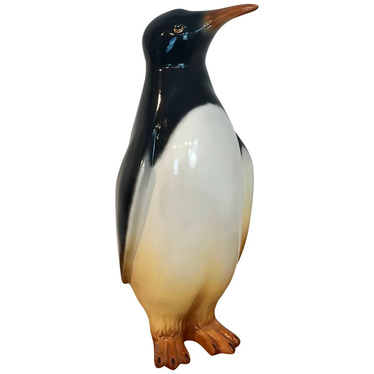 Italian Midcentury Lifesize Figure of a Penguin