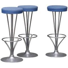 Set Three Bar Stools by Piet Hein Manufactured by Fritz Hansen